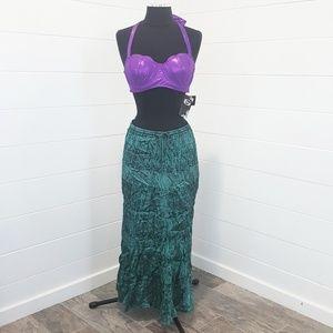Disney Mermaid Costume Cosplay Bikini Skirt Set